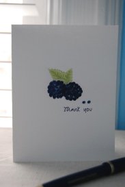 Blackberries Thank You Folded Note